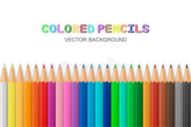 ołówka barwiony wektor ilustracji