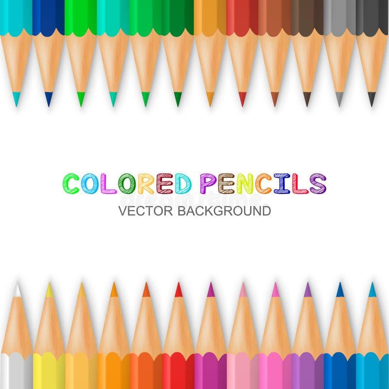 ołówka barwiony wektor royalty ilustracja