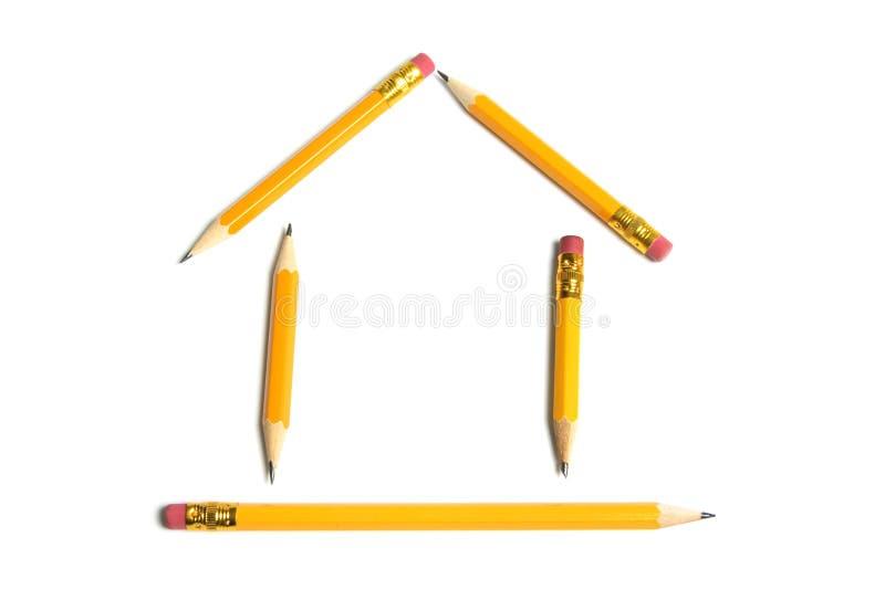 ołówka domowy kształt fotografia stock
