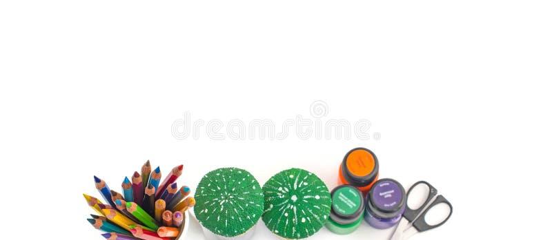 Ołówki i atramenty dla twórczości zdjęcia stock