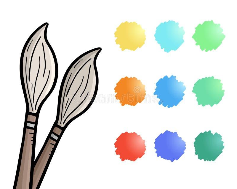 Ołówki i kolory ilustracji