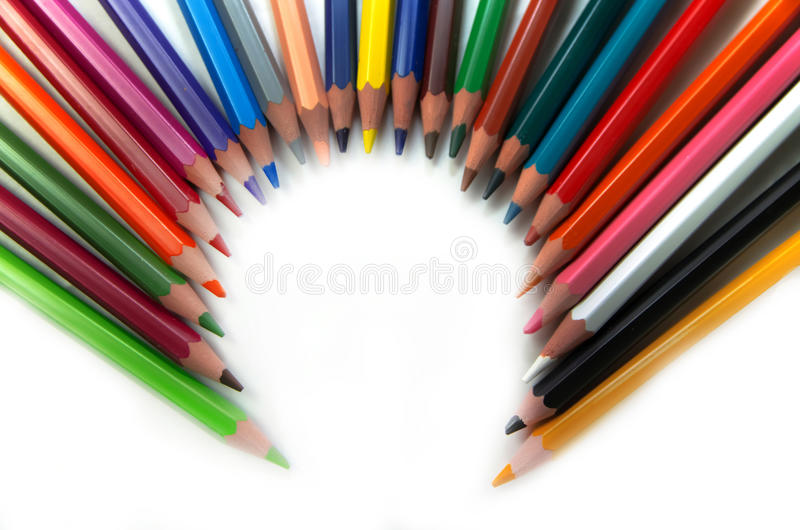Ołówki tworzy okrąg zdjęcia royalty free