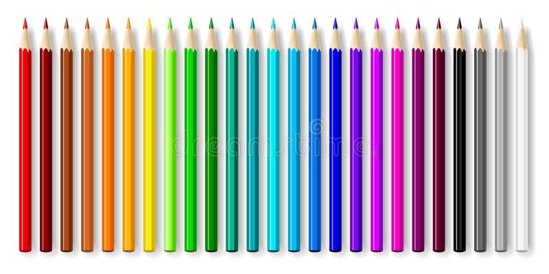 ołówki ustawiający royalty ilustracja