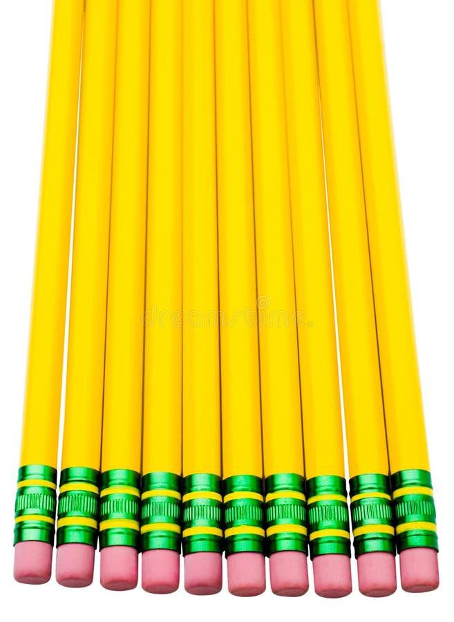 Ołówki w rzędzie obraz stock