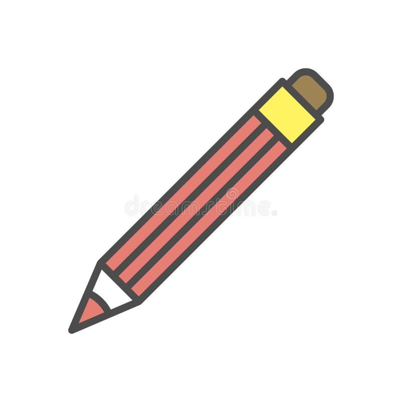 Ołówkowa ikona royalty ilustracja