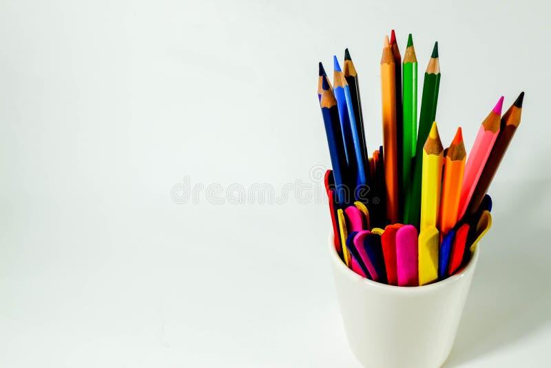 Ołówkowa kolorystyka zdjęcia royalty free