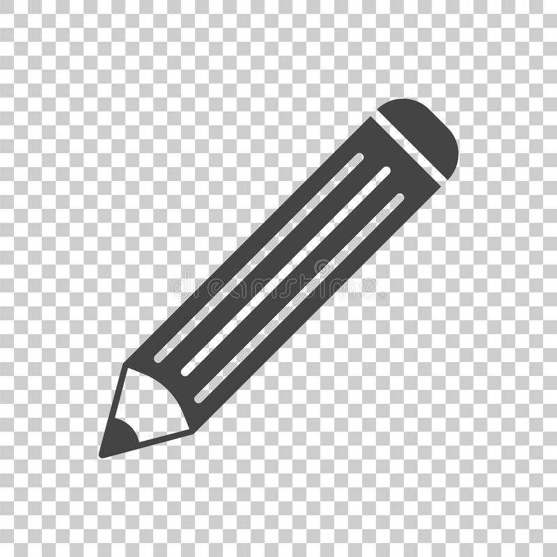 Ołówkowa piktogram ikona Prosta płaska ilustracja dla biznesu, ma ilustracja wektor