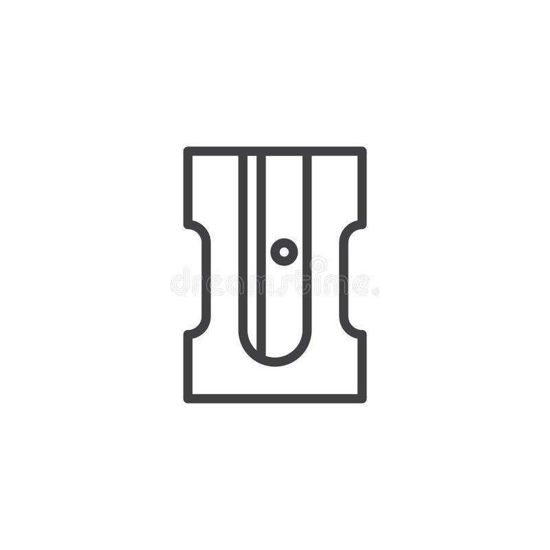 Ołówkowej ostrzarki konturu ikona royalty ilustracja