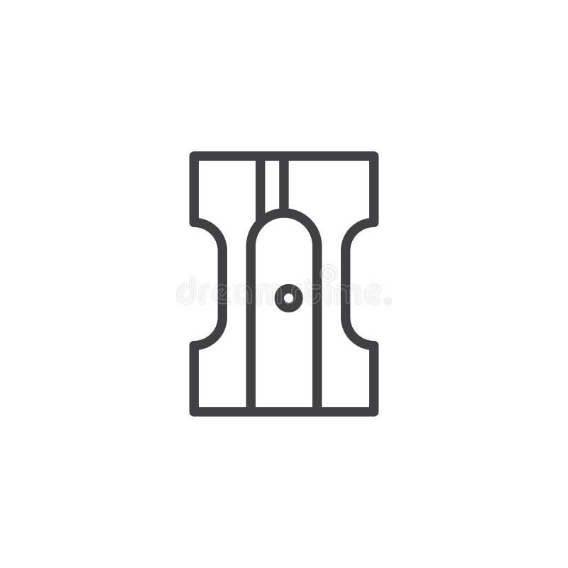 Ołówkowej ostrzarki konturu ikona ilustracji
