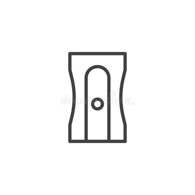 Ołówkowej ostrzarki linii ikona ilustracja wektor