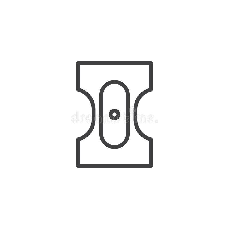 Ołówkowej ostrzarki linii ikona royalty ilustracja