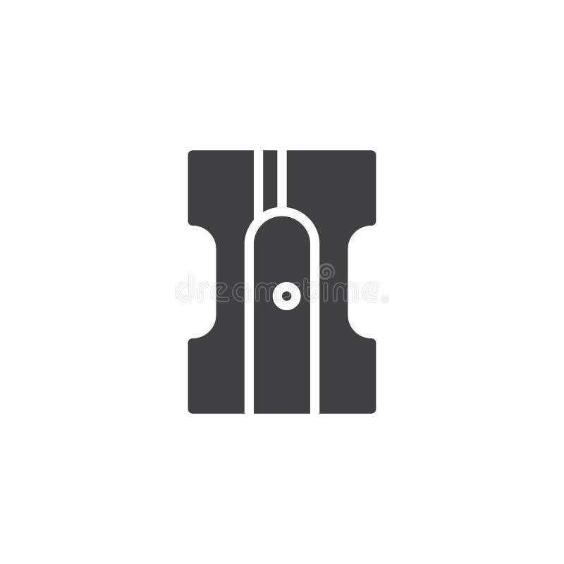 Ołówkowej ostrzarki wektoru ikona ilustracji