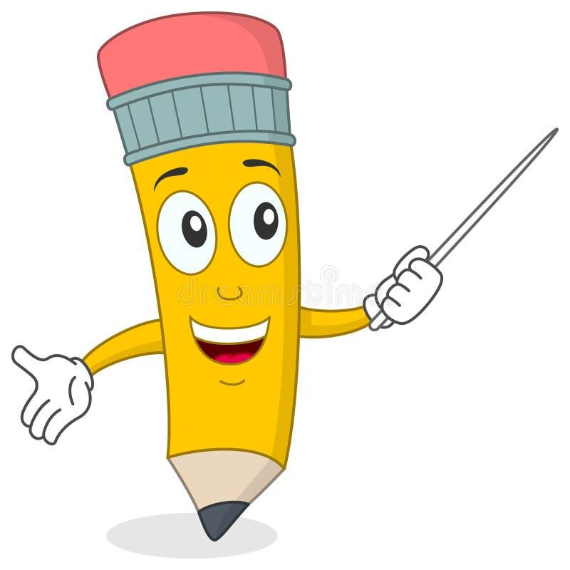 ołówkowy charakteru nauczyciel royalty ilustracja