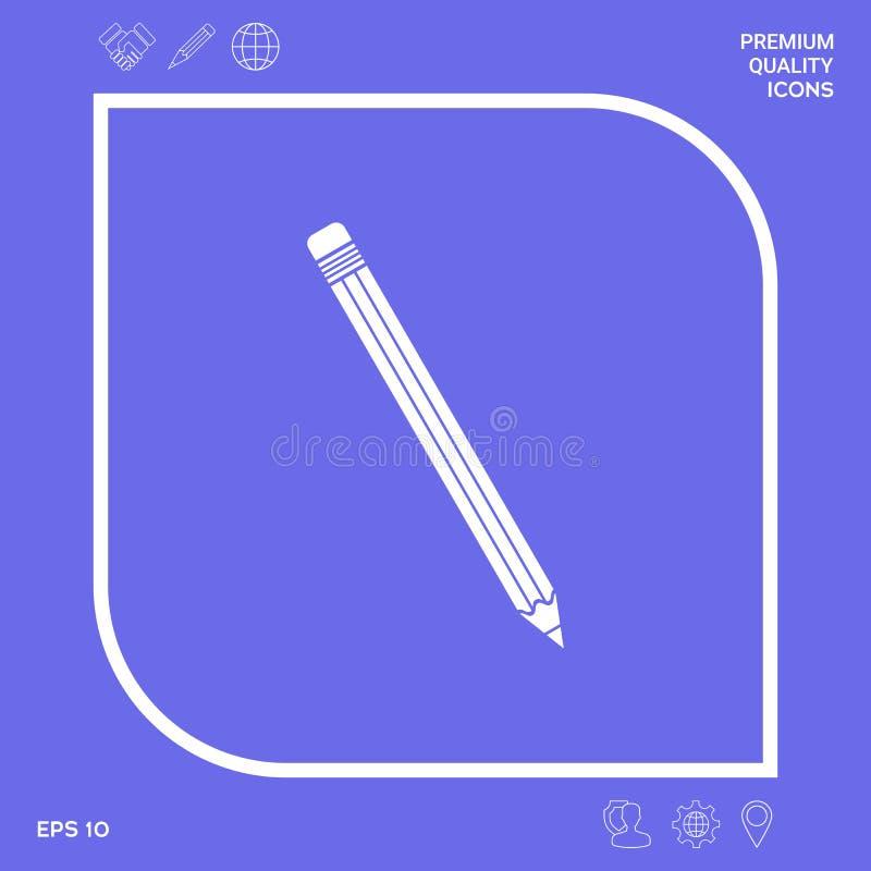 Ołówkowy ikona symbol Graficzni elementy dla twój projekta ilustracja wektor