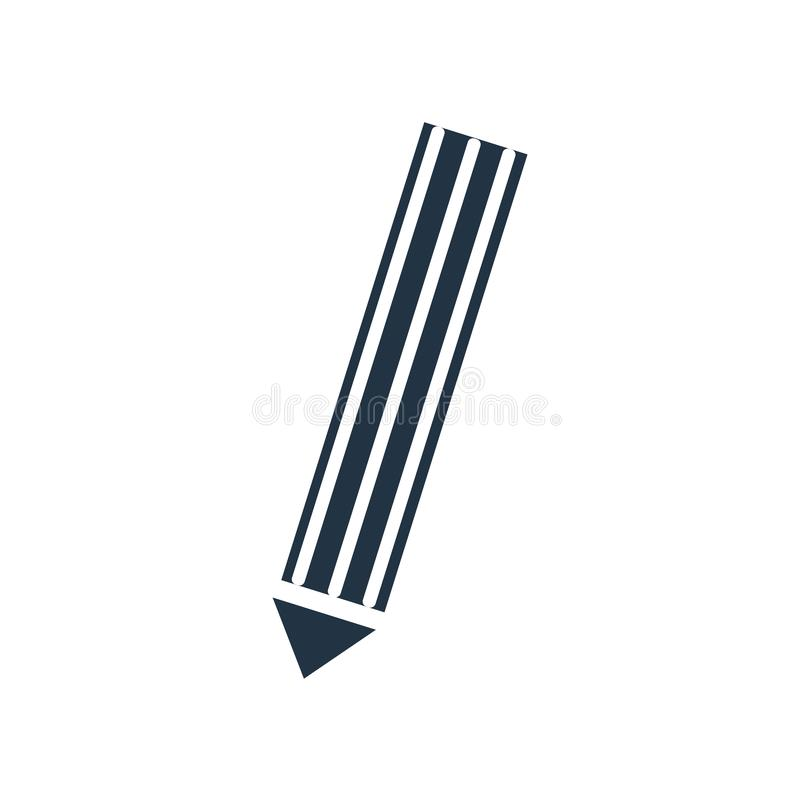 Ołówkowy ikona wektor odizolowywający na białym tle, ołówka znak ilustracja wektor