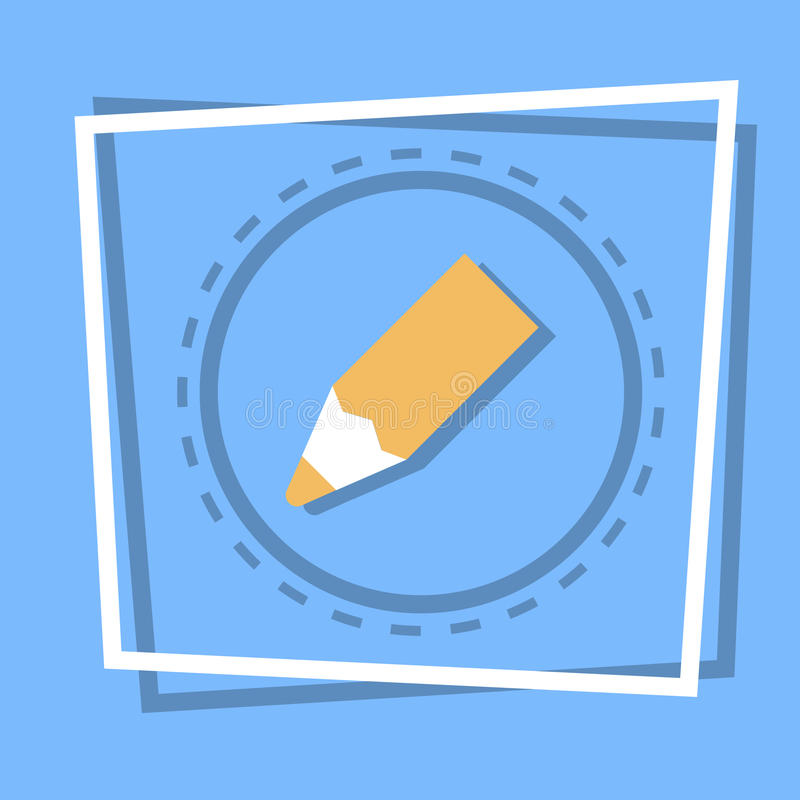 Ołówkowy ikony Writing sieci guzik royalty ilustracja