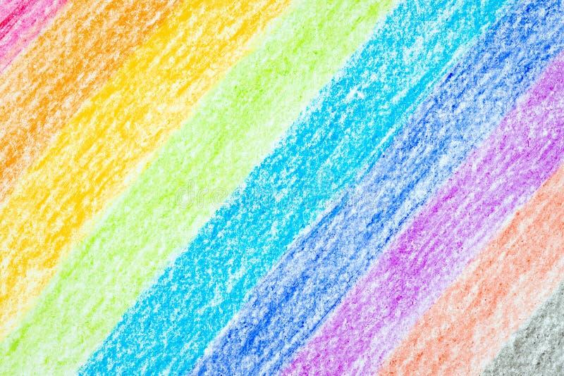 Ołówkowy kolor tęczy tło zdjęcia royalty free