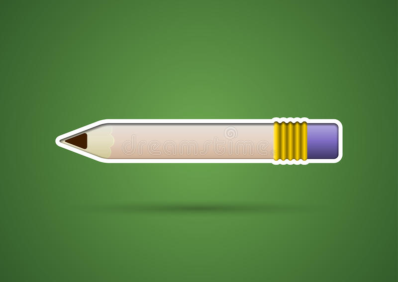 Ołówkowy majcher z gumką royalty ilustracja