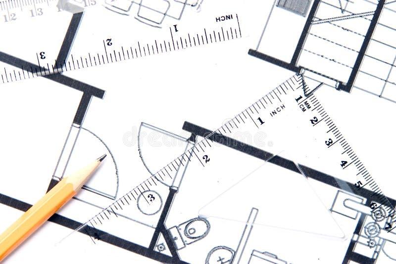ołówkowy plan piętra żółty zdjęcie stock