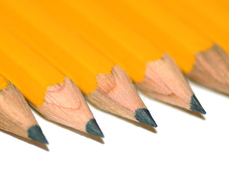 ołówkowy rząd fotografia stock