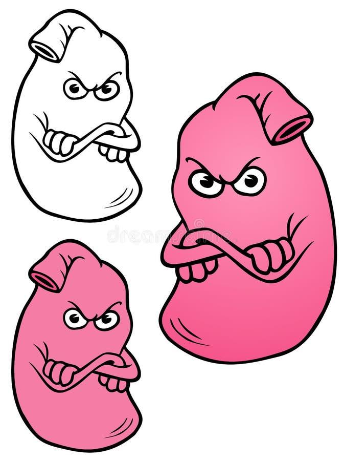 Żołądek, W Złym nastroju royalty ilustracja