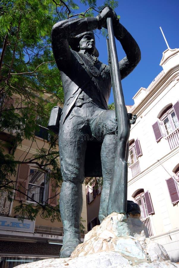 Żołnierz statua, Gibraltar fotografia royalty free