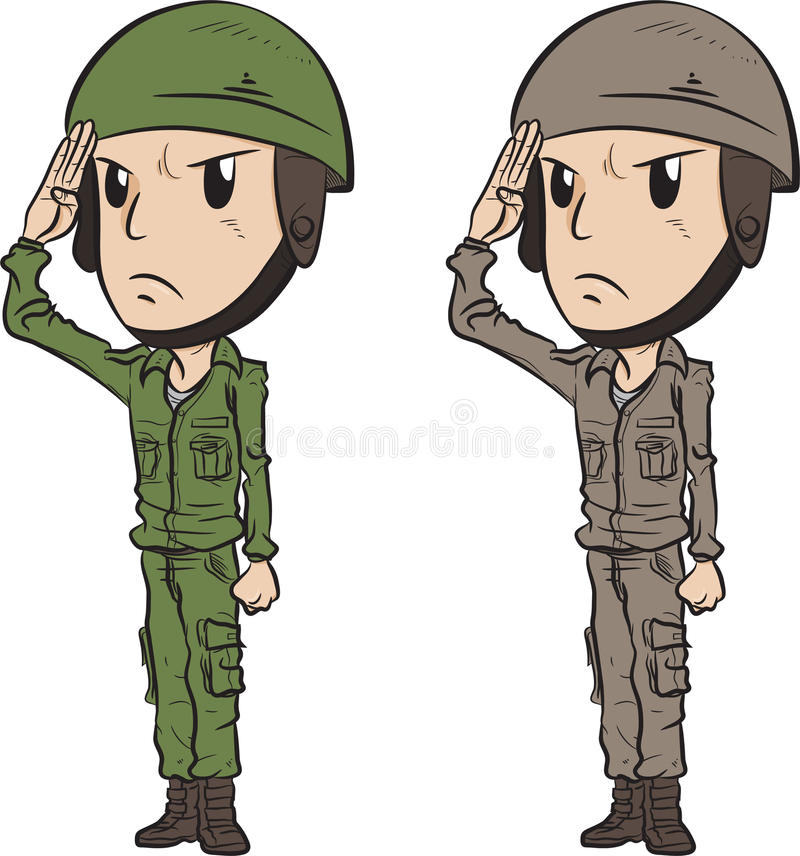 Żołnierza salut royalty ilustracja