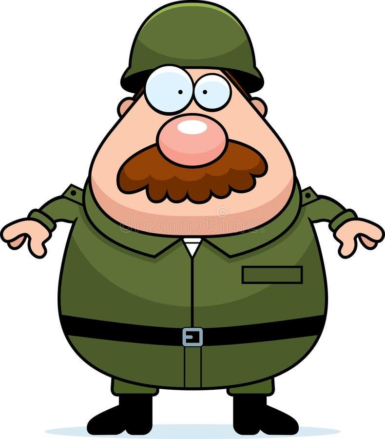 Żołnierza wąsy ilustracji