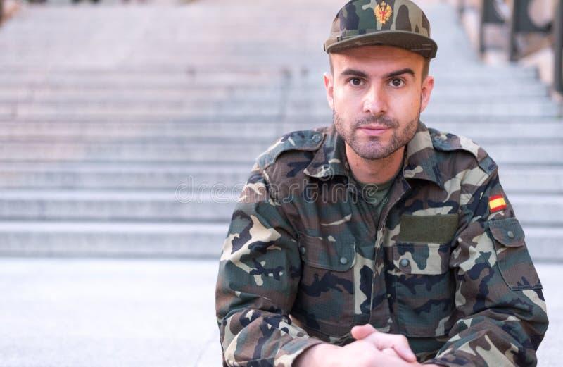 Żołnierza zamknięty up zdjęcia royalty free