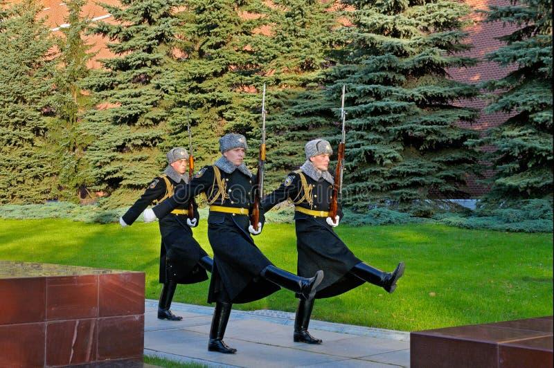 Żołnierze prezydenta pułk wracali koszary obrazy stock