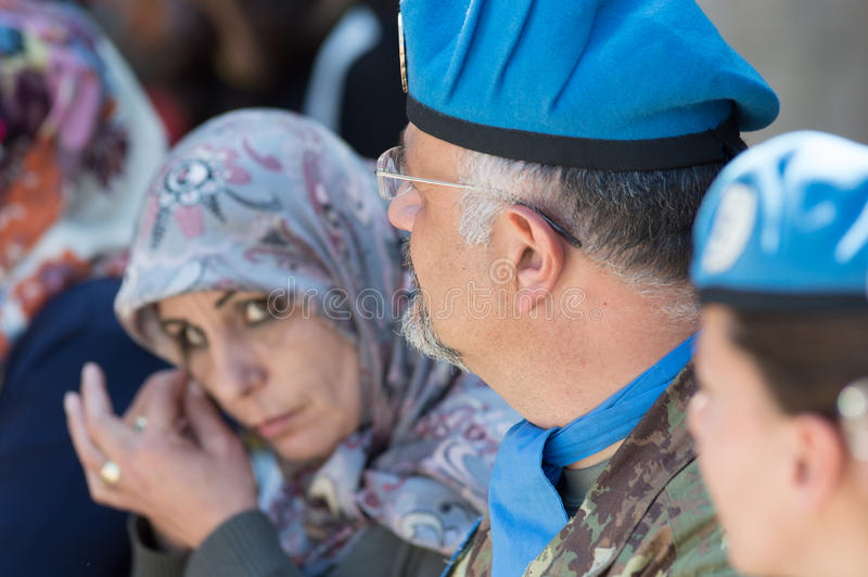Żołnierze włoszczyzny UNIFIL kontyngent fotografia royalty free