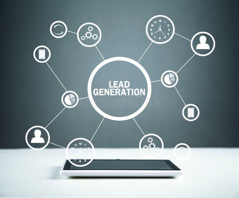 ołowiany pokolenie Pojęcie biznes, sieć, technologia, przyszłość obraz royalty free