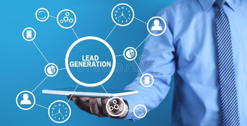 ołowiany pokolenie Pojęcie biznes, sieć, technologia, przyszłość zdjęcie stock