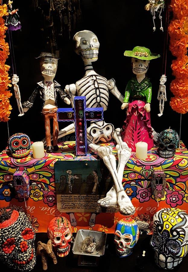 Ołtarz dla dnia nieboszczyk w Meksyk fotografia royalty free