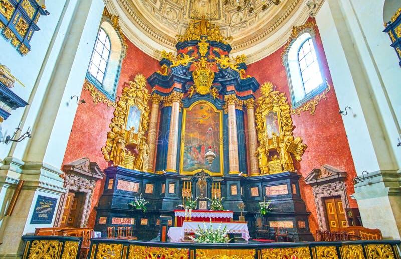 Ołtarz St Peter i Paul kościół w Krakow, Polska fotografia stock
