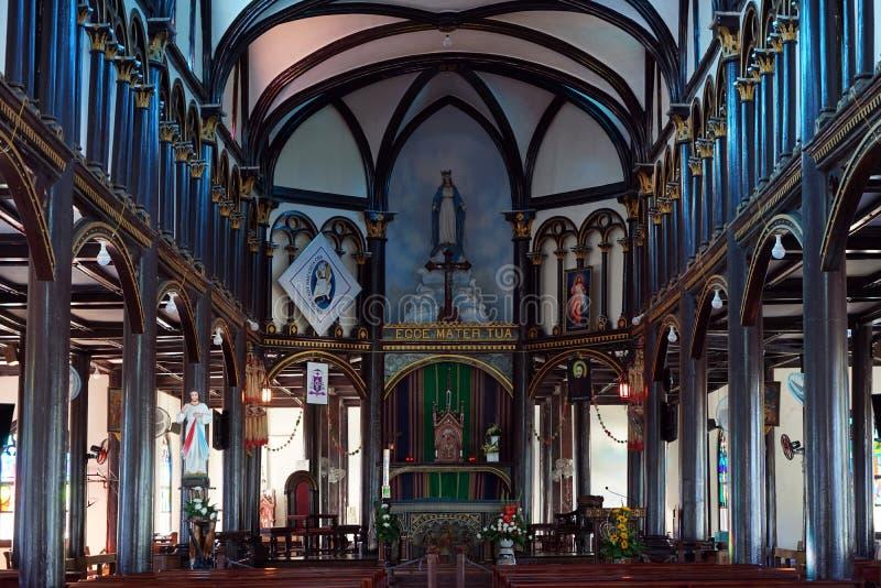 Ołtarz w Drewnianym kościół zdjęcie royalty free