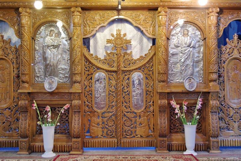 Ołtarz w ortodoksyjnym kościół fotografia stock