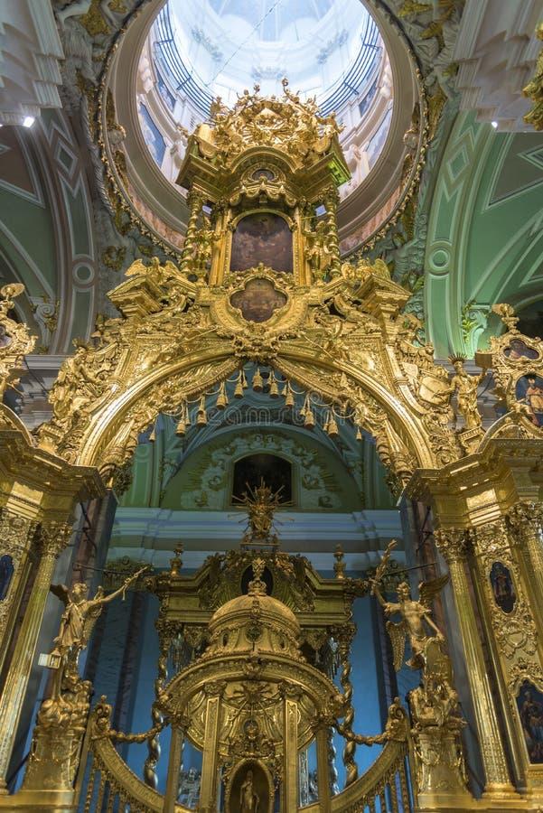 Ołtarz w St Peter i Paul katedrze St Petersburg Rosja zdjęcie royalty free