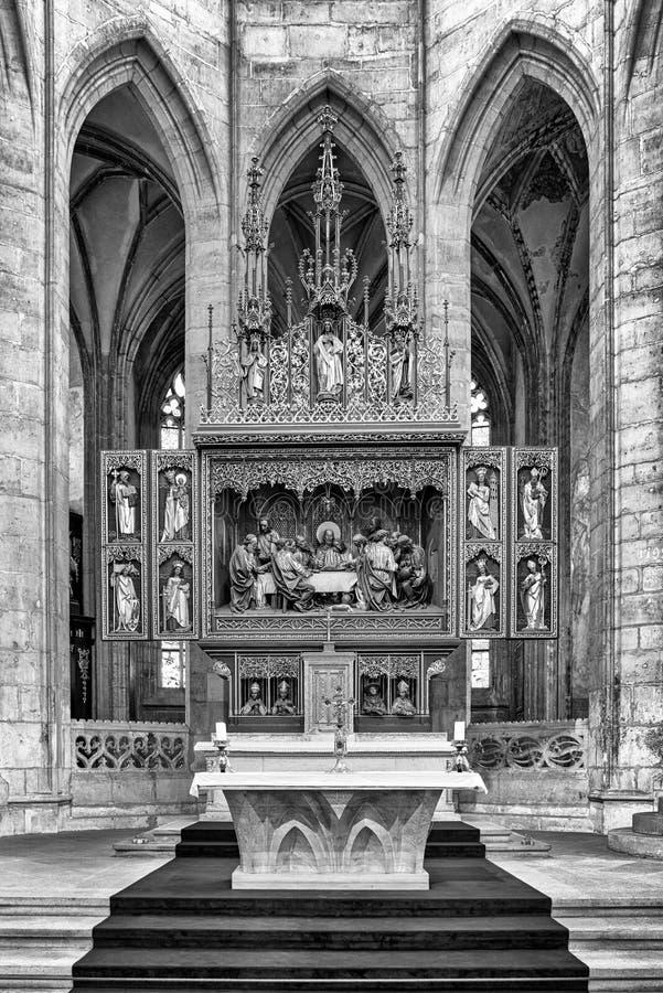 Ołtarz w StBarbara kościół w Kutna Hora, republika czech obraz royalty free