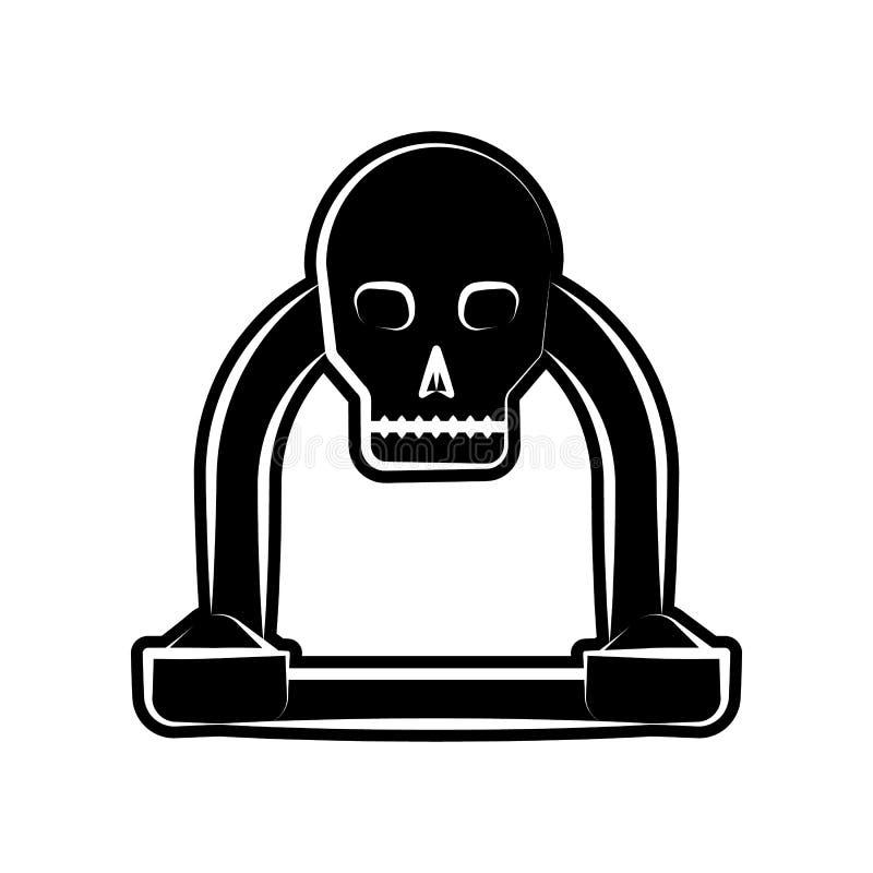 Ołtarzowa ikona E Glif, płaska ikona dla strona internetowa projekta i rozwój, ilustracja wektor