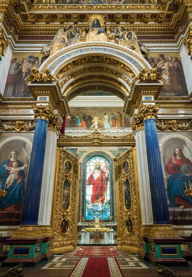 Ołtarzowi drzwi St Isaac ` s katedra Rosja zdjęcie royalty free