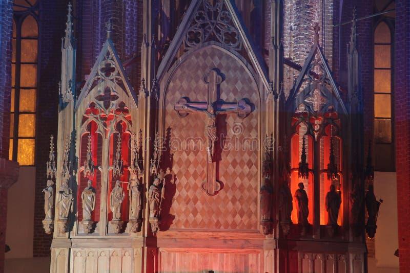 ołtarzowy kościelny Ljubljana Slovenia brać obrazy stock