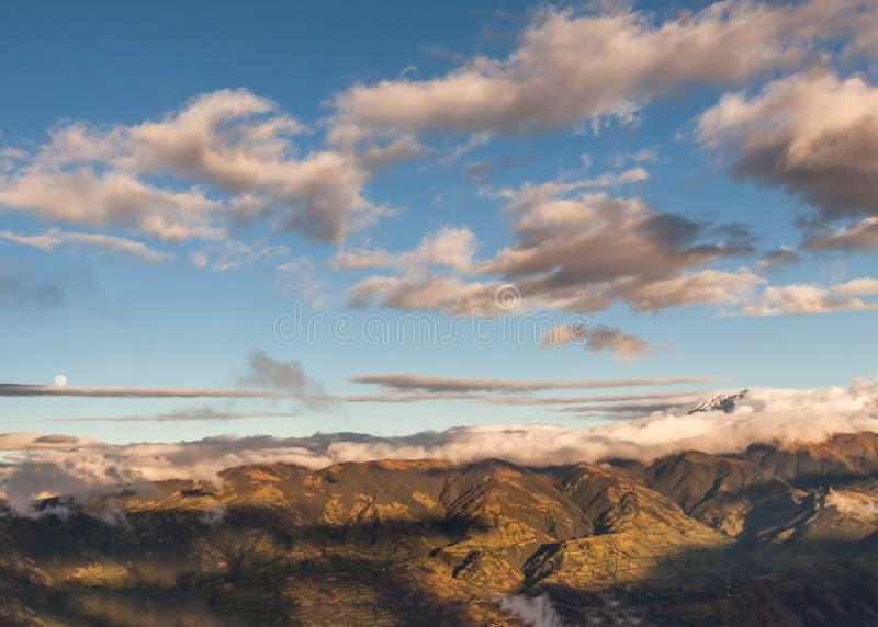 Ołtarzowy wulkan, południowego America, Andes góry obrazy stock