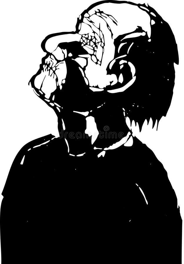 oślepiony mężczyzna royalty ilustracja