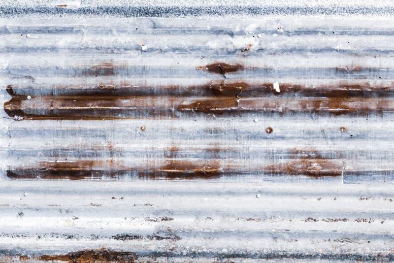 Ośniedziała panwiowa galwanizująca stali żelaza metalu prześcieradła powierzchnia dla t obraz stock