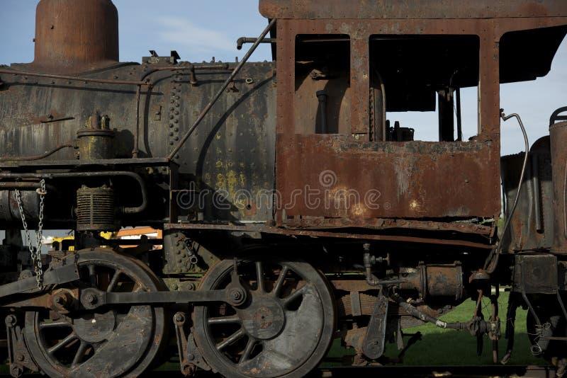Ośniedziała Parowa lokomotywa fotografia royalty free