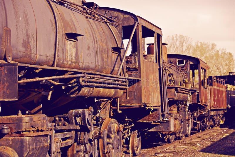 Ośniedziałe lokomotywy zdjęcie royalty free