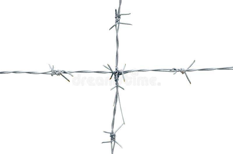 Ośniedziały drut kolczasty pionowo dołączający horyzontalny zdjęcia royalty free
