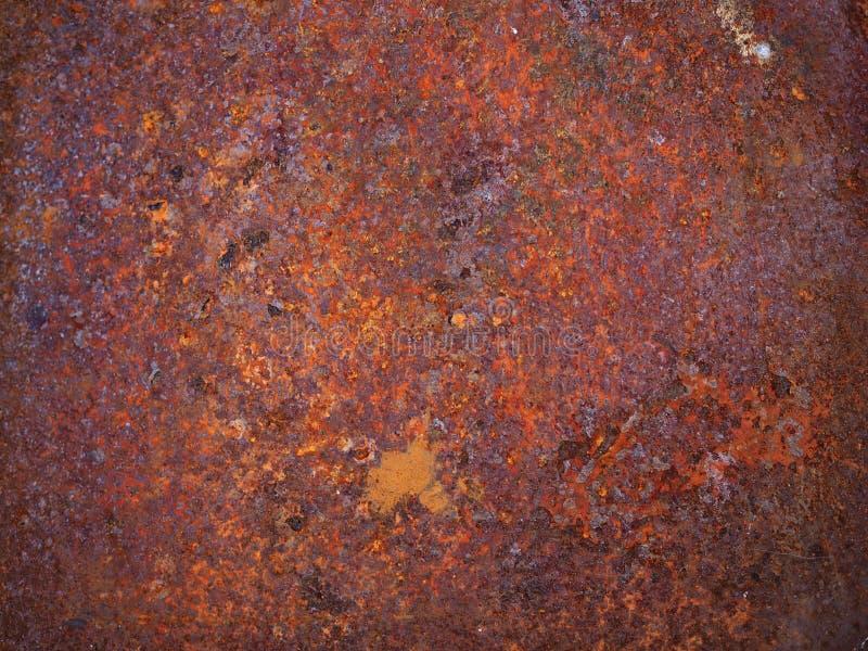 Ośniedziały metal tekstury tło, rdza i narysy, zdjęcia stock