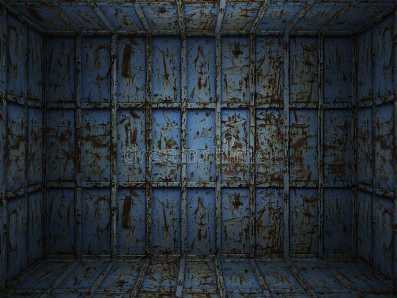 ośniedziały metalu wewnętrzny pokój zdjęcie royalty free